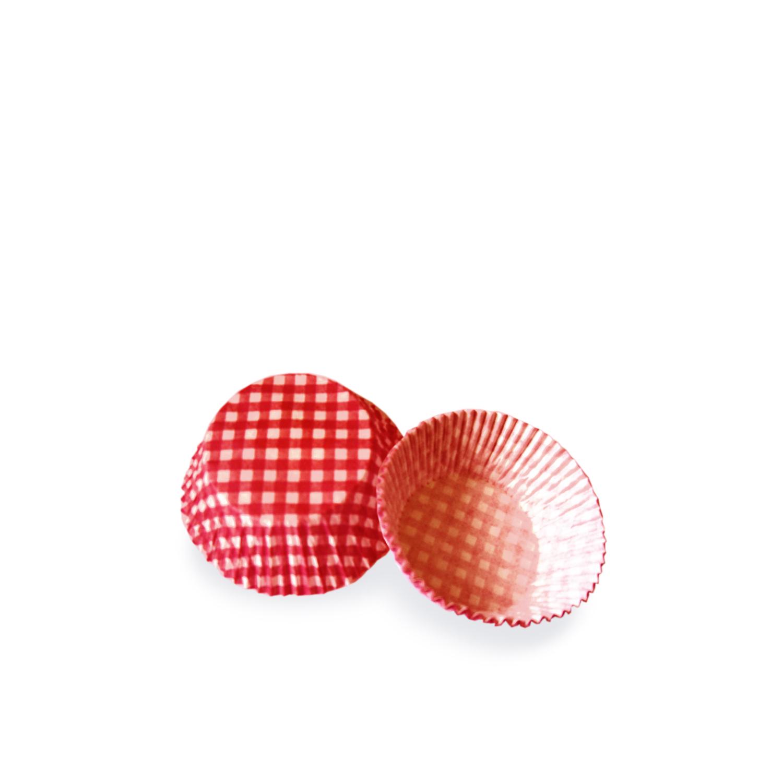 Cukrářské košíčky KARO červené pr. 50 x 30 mm (40 ks)