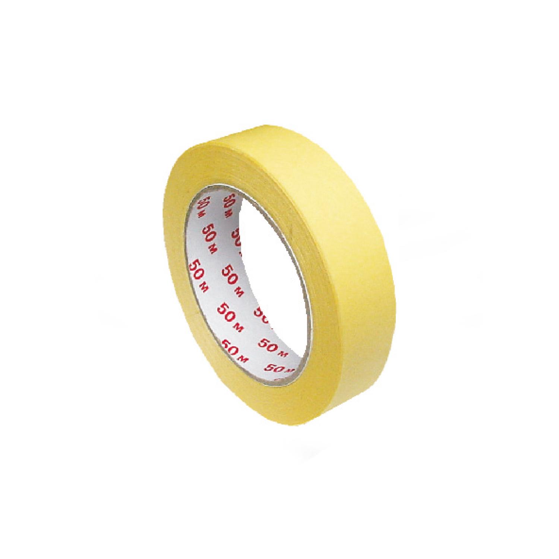 Lepící páska maskovací krepová, žlutá 50 m x 25 mm (1 ks)
