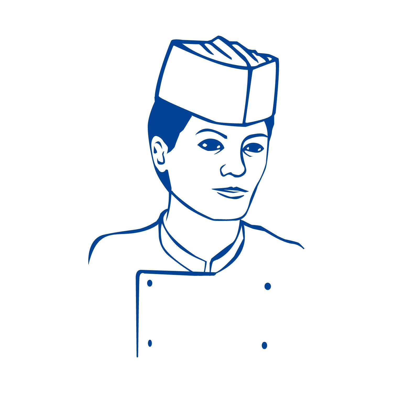 Kuchařské čepice z papíru, lodičky bílé (25 ks)
