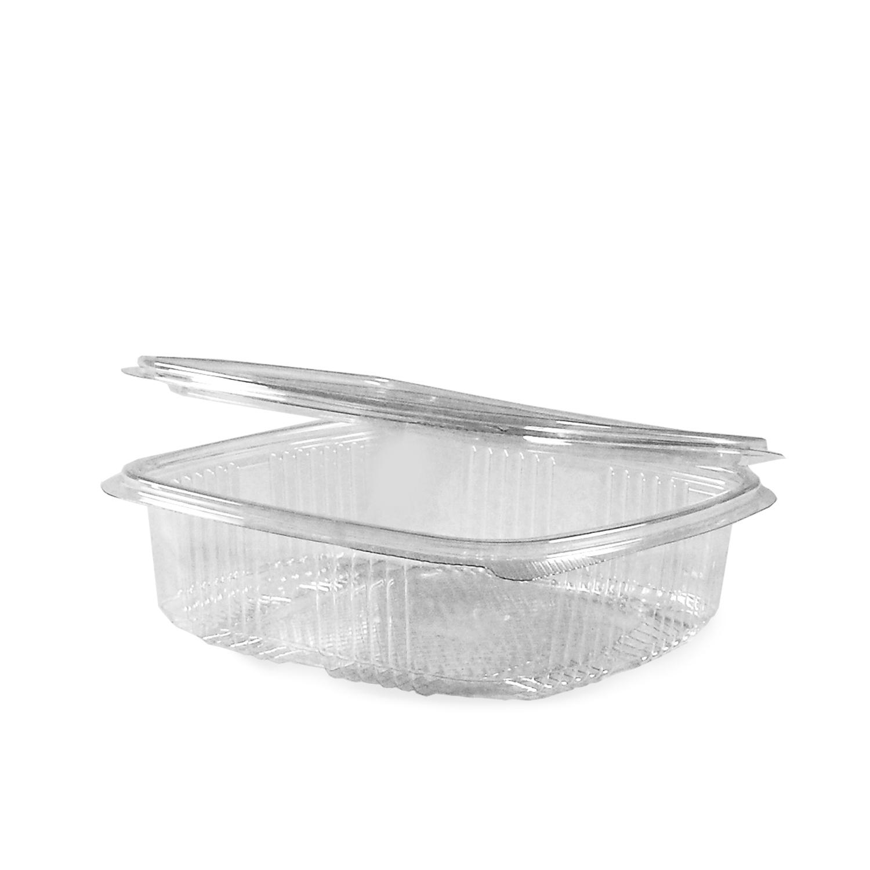 Miska hranatá průhledná s víčkem 750 ml (PET) (50 ks)